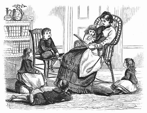 leyendo a los niños