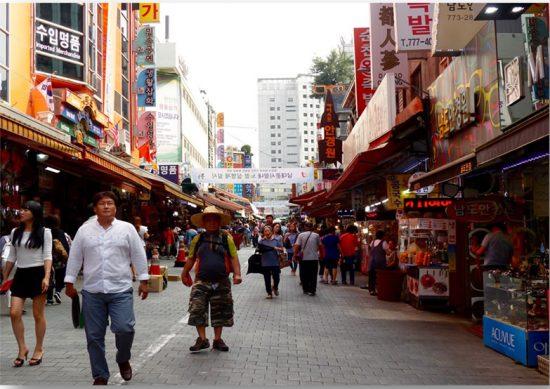 Mercado de Namdaemun, en el centro de Seúl